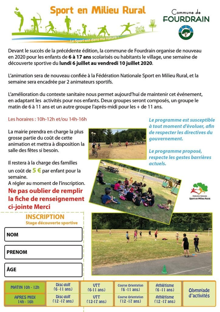 Semaine du sport de Fourdrain - Commune de Fourdrain Aisne